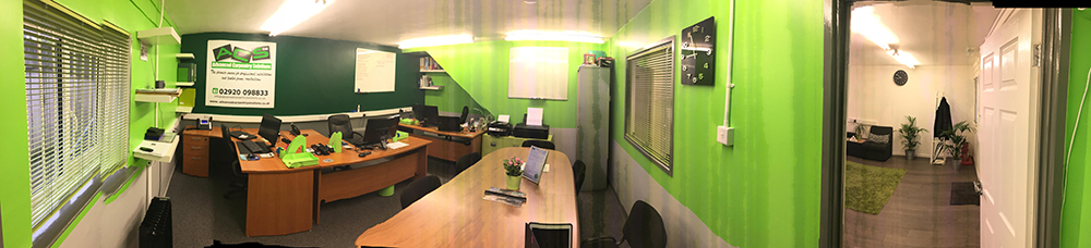 Panoramic photograph of Advanced Carpentry Solutions office